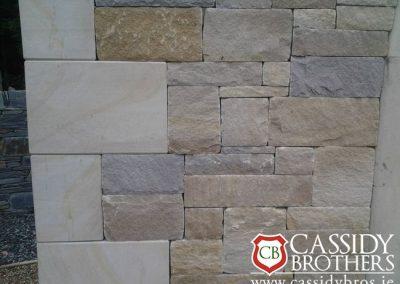 Ashlar Sandstone With Sandstone CornerStones