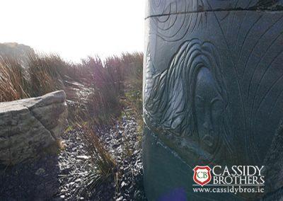 Bespoke cut stone sculpture