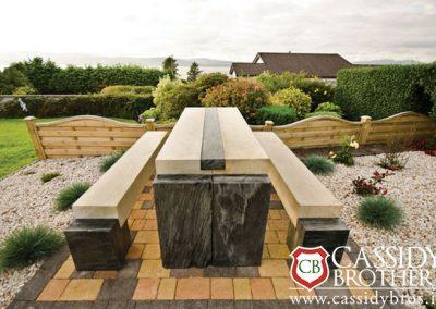Donegal Slate & Sandstone Bench