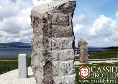 Plugged & Feathered Irish Blue Quartz Monolith