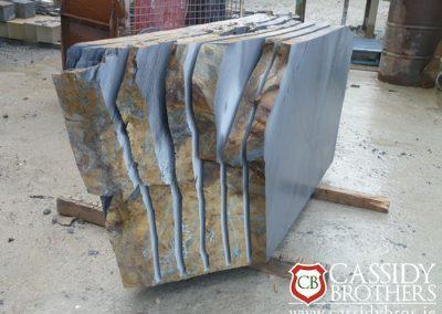 Stone Slice Block Irish Blue Quartz