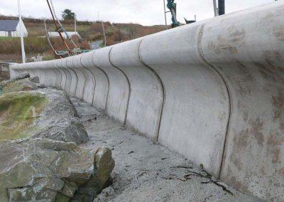 Bespoke Precast Curved Sea Walls